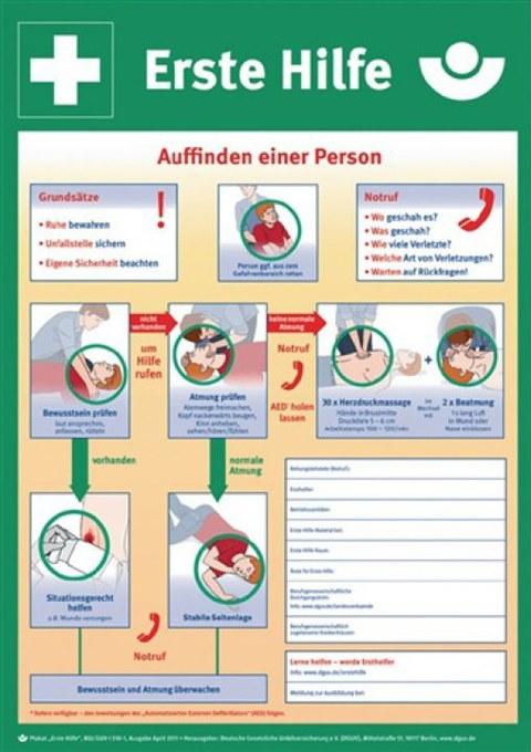 Poster Erste Hilfe